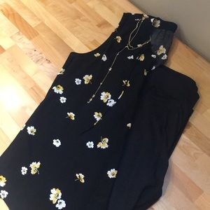 Flowered sleeveless tank